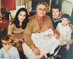 "A never before seen photo of Prince Consort Henrik, Prince Nikolai, Prince Felix, Crown Prince Frederik and Crown Princess Mary with newborn Prince Christian. The photo is featured in the book """"Enegænger portræt af en prins"" written by Stephanie Surrugu about Prince Consort Henrik."