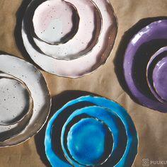 Ceramic plate with gold on puuku.com #puuku #handmade #homedecor