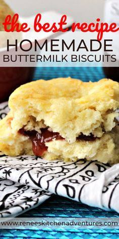 Hands down these Easy Peasy Buttermilk Biscuits are one of the easiest, tastiest buttermilk biscuit recipes you can make from scratch. Buttery, flaky, and tender, this IS the homemade biscuit recipe you are looking for! Homemade Biscuits Recipe, Homemade Buttermilk Biscuits, Buttermilk Recipes, Buttery Biscuits, Buttermilk Bisquits, Homemade Breads, My Recipes, Cooking Recipes, Favorite Recipes