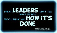 #Leaders show how its done.