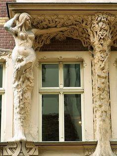 Art Deco element, Riga, Latvia