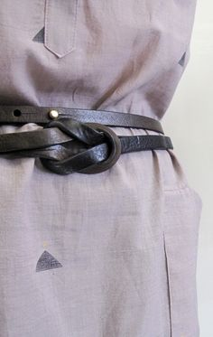 "Gorgeous intertwined black and brown belt with brass hardware by DePalma Leather Color: Smoke/Bark - — Leather handmade belt - — M/ 69"", L/76.5"""