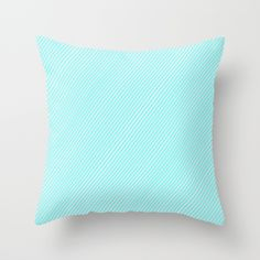Mint Stripes Aplenty Throw Pillow #stripes #striped #slanted #sideways #modern #hypnotic #lines #simple #minimal #minimalism #pillow #case #cover #throwpillow #pillowcase #pillowcover #homedecor #decor #decorative #couch #bedding #comfort #society6 #pillows #mint #light #pastel #bright #cute #turquoise #teal