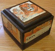 wood treasur, lion wood, treasure boxes, treasur box