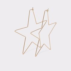 Cuwien When you wish upon a star you'll reach for these. Delicate and colossal, a glint of metal stars to frame your face. Sublime.