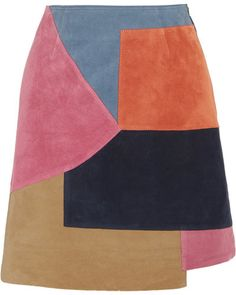 M.i.h Jeans - Kalle Patchwork Suede Mini Skirt - Pink