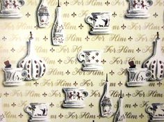 Vintage Wrapping Paper - Bay Rum and other pursuits - One full sheet Gift Wrap