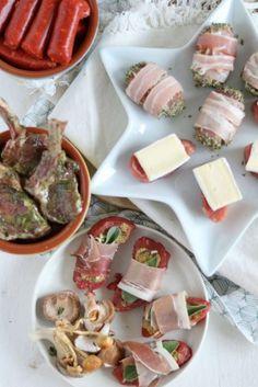 Gourmetrecepten met vlees Dutch Recipes, Gourmet Recipes, Healthy Recipes, Fondue, Appetisers, Food Inspiration, Christmas Inspiration, Feta, Food And Drink