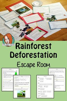 Try this escape room style game with your students today! This is a fun game that is perfect for teaching children about tropical rainforest destruction. Science Resources, Science Lessons, Lessons For Kids, Teaching Science, Teacher Resources, Teaching Kids, Science Fun, Elementary Science, Earth Science