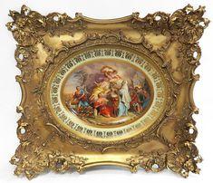 Large 19th C. Framed Royal Vienna Porcelain Plate