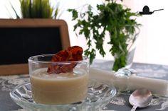 Sopa cremosa de coliflor con panceta