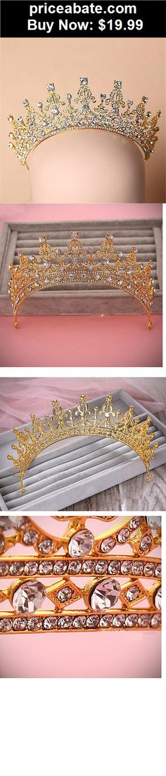 Bridal-Accessories: Vintage Wedding Bridal Crystal Gold Headband Crown Tiara Hair Accessories Band - BUY IT NOW ONLY $19.99