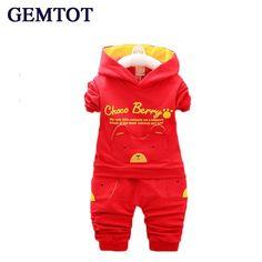 5fd87be47f5c Baby Cartoon Hooded T-shirt + Trousers Set Baby Cartoon