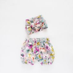 Baby Gift Set Kids Gift Head Wrap and Bloomers Set by moonroomkids