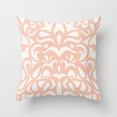 Penguin Classic: Peach Throw Pillow by Jennifer Taylor - $20.00