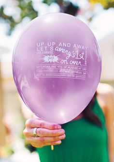 Balloon Invitation (to a Rainbow First Birthday Party!)