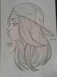 Easy Pencil Drawings, Dark Art Drawings, Girly Drawings, Easy Drawings Of Girls, Disney Drawings Sketches, Girl Drawing Sketches, Art Drawings Sketches Simple, Cartoon Drawings, Girl Pencil Drawing