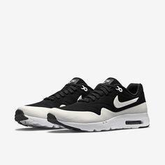 big sale ab3de 91627 Shop Nike Air Max 1 Ultra Moire 705297 001 Black White Black Anthracite On  Sale