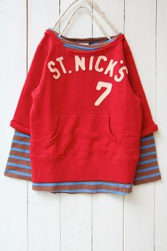 7 layered fleece sweat shirt / red (5) - 100% picnic.
