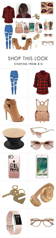 """School Day/College Day"" by arianna-mitchell-1 on Polyvore featuring Topshop, Full Tilt, Apt. 9, Urban Originals, MaxMara, Casetify, Griffin, Sophie Hulme, Fitbit and EyeBuyDirect.com"