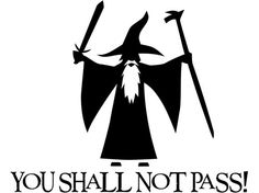 Car Accessories -  You Shall Not Pass  Gandalf  New Style  LOTR  Vinyl by Stickeesbiz, $4.00