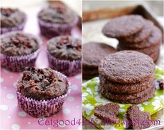 gluten free breakfast chocolate muffins and GF nutella cookies