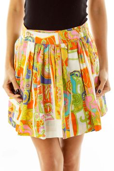 d9ec1e042 Retro skirts for all events multicolor pleated skirt by Trina Turk #silkroll  Retro Skirts,