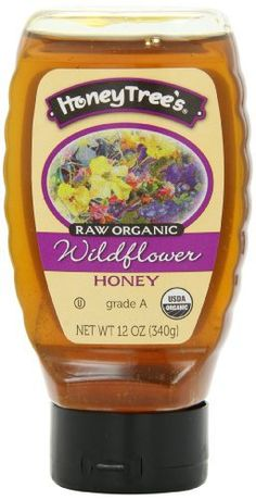 HoneyTree's Raw Organic Honey, Wildflower, 12 Ounce - http://goodvibeorganics.com/honeytrees-raw-organic-honey-wildflower-12-ounce/