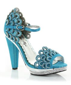 Another great find on #zulily! Bettie Page Blue Lourdes D'Orsay Pump by Bettie Page #zulilyfinds