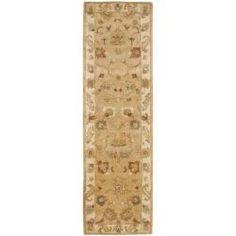Stair runner Handmade Zeigler Taupe/ Ivory Hand-spun Wool Rug (2'3 x 12')