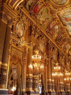 Paris Opera: interior detail