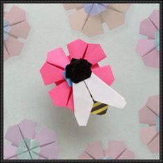 Animal Origami - Bee My Honey Tutorial | PaperCraftSquare.com