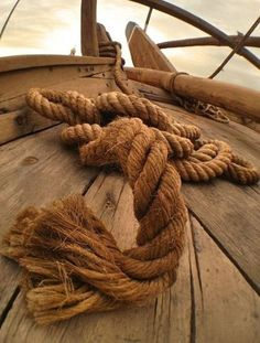 """Ship Rope"" by Mubarak Bahrouh on - Brown Ship Rope Pirate Life, Seafarer, Sail Away, Set Sail, Am Meer, Wooden Boats, Tall Ships, Belle Photo, Sailing Ships"