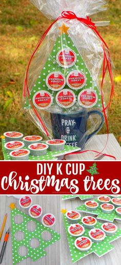 DIY K Cup Christmas Trees - A Fun and Frugal Holiday Gift Tutorial! (using @Target Market Pantry 48 count K Cup Box - just $15.99!) perfect teacher,co-worker, mail carrier gifts!