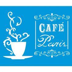 Stencil Opa 20x25 - Café Paris OPA1435