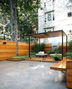 Pergola Brooklyn garden; Gardenista