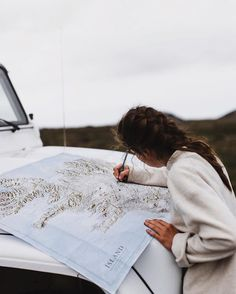 I have a dream of taking a road trip armed only with a map for directions, highlighting and marking up the paper with our route and stops as we go. What a special keepsake that would be. <3