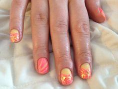 Summer gel nails