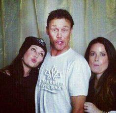 Shando, Brian & Holly, being goofy.