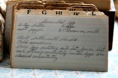 Step back in time with this vintage Scrambled Eggs recipe. Read about this recipe card's history and view other recipes at the Vintage Recipe Project
