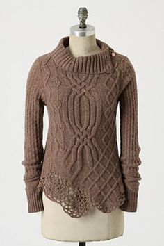 Love the crochet detailing at the hem......some day I will be good enough to try this beauty !!!