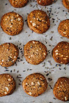 paleo vegan lavender shortbread cookies via will frolic for food Vegan Desserts, Just Desserts, Delicious Desserts, Heathy Sweets, Dessert Healthy, Paleo Sweets, Healthy Food, Shortbread Cookies, Cookies Et Biscuits