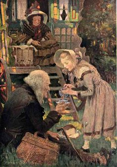 Little Nell and Her Grandfather at Mrs. Jarley's - Jessie Willcox Smith