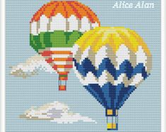 cross stitch hot air balloon – Etsy PT