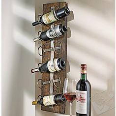 Reclaimed Wood Wall Wine Rack at Wine Enthusiast - $149.95