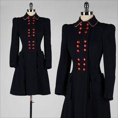vintage 1940s coat . blue wool gabardine . by millstreetvintage, $245.00  Gosh I love this coat!