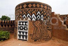African adobe hut   Burkina Faso
