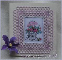 Obrazek z kompletu - Kwiaty 1 http://pergaminart.pl/sklep/obrazki-kwiaty-p-249.html w oprawie pergaminowej Wykonanie - Katarzyna Gargas Pergaminart '2015