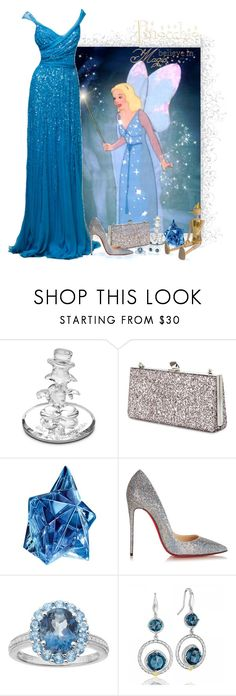"""""""Pinocchio - The Blue Fairy"""" by love-n-laughter ❤ liked on Polyvore featuring Disney, Elie Saab, Jimmy Choo, Thierry Mugler, Christian Louboutin, Tacori and disney"""
