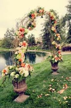 How to Make a Wedding Arch Out of Branches Pic